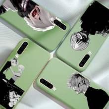 Tóquio ghoul japão suave anime capa protetora caso de telefone cor doces para o iphone 6 7 8 11 12 s mini pro x xs xr max plus