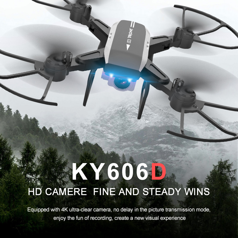 KY606D Drone FPV RC Drone 4k Camera 1080 HD Aerial Video dron Quadcopter RC helicopter toys for kids Foldable Off-Point drones image
