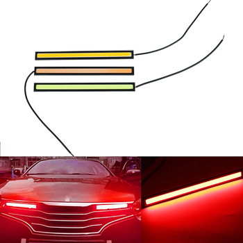 1 Pcs Ultra Bright LED Daytime Running lights 17cm Waterproof Auto Car DRL COB Driving Fog lamp Car Styling image