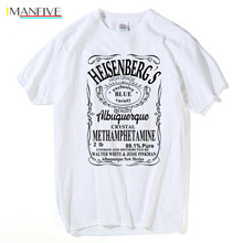HanHent Heisenberg T-Shirt Men Walter white anime shirt Cotton Casual Funny T shirts Swag Breaking bad Tops Los pollos hermanos