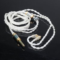 4.4 To Mmcx Balanced Headphone Cable 4.4 / 3.5 / 2.5Mm Balanced 8 Core Oxygen Free Silver Copper Mmcx Cable Interface Cable   -