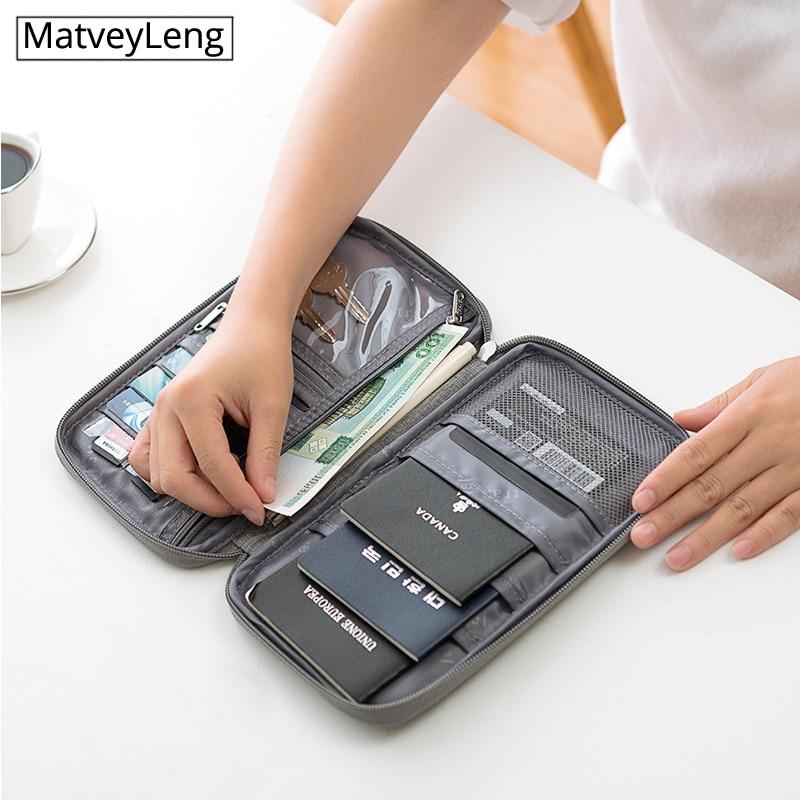 Highqualit Waterproof Passport Holder Travel Wallet Big Credit Card Wallets Organizer Travel Accessories Document Bag Cardholder