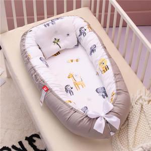 Tissu Bassinet-Bumper Pillow Nest Bed Portable Crib Newborn-Baby Lounge with Cushion
