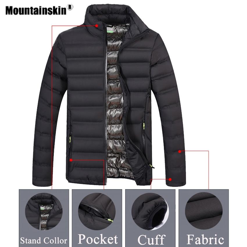 Mountainskin חורף גברים של מעילי מסלולי טיולים חיצוני ספורט תרמית מעיל רוח קמפינג טיפוס טרקים סקי זכר חם מעיל VA685
