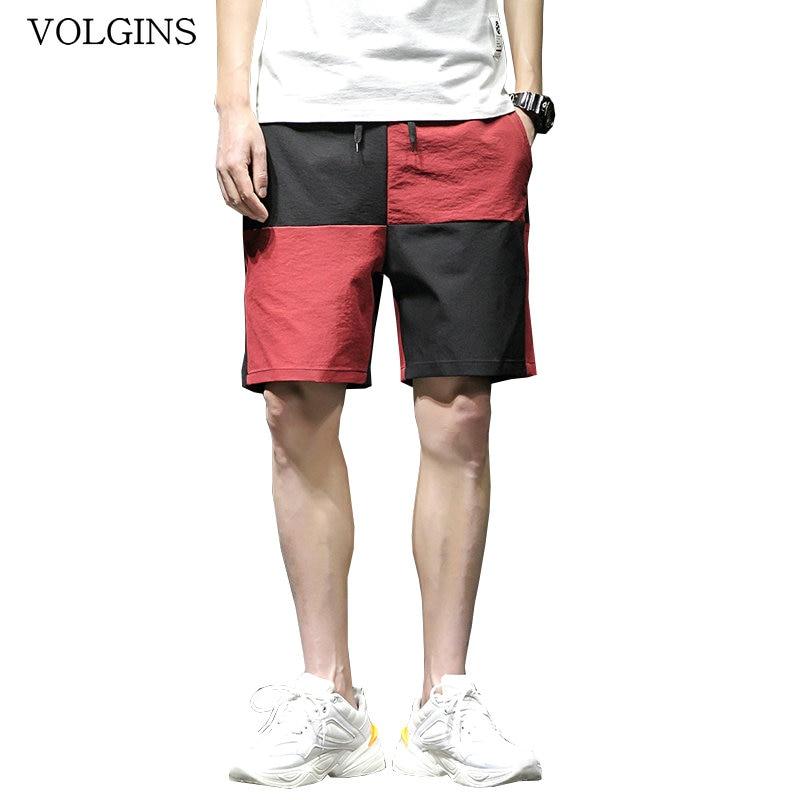 Streetwear Casual Beach Shorts Men Patchwork Pockets 2020 Summer Hip Hop Mens Shorts Knee Length Bermuda Short Pants Men