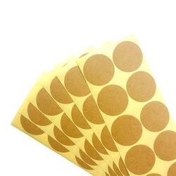 100pcs/pack Vintage Kraft Label Sticker Round Diameter 33~35MM Leather Color Blank Seal Stickers