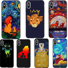 Lion King Moon Lions Simba Fanfrea TPU Phone Case For iPhone XS MAX XR 7 8 6 6s Plus nala simba timon 11 Pro Max