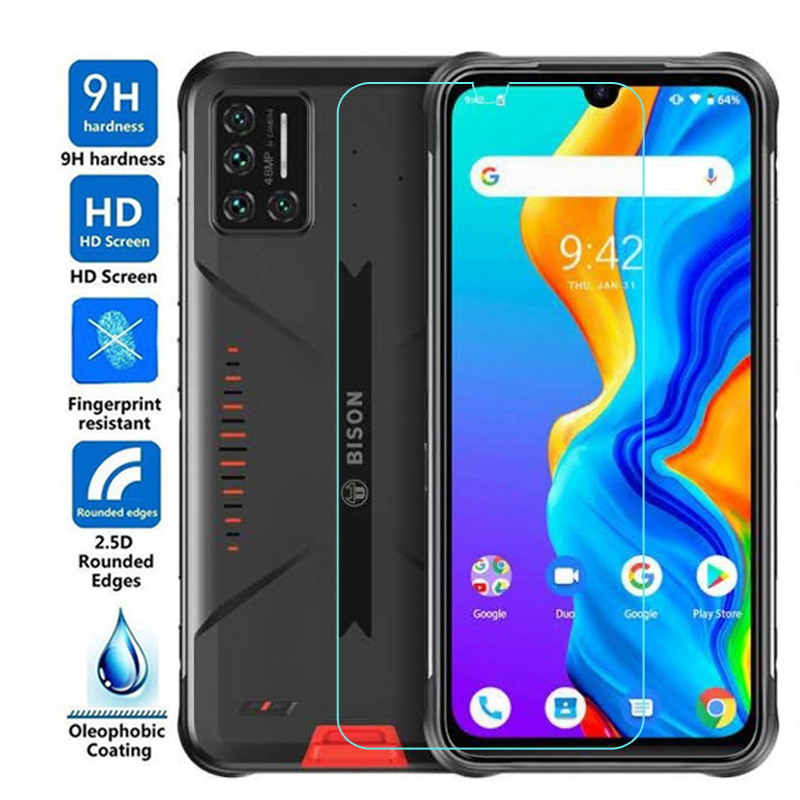 Screen Protector for UMIDIGI Bison Tempered Glass 9H Cover Film for UMIDIGI Bison Glass Protector Fi
