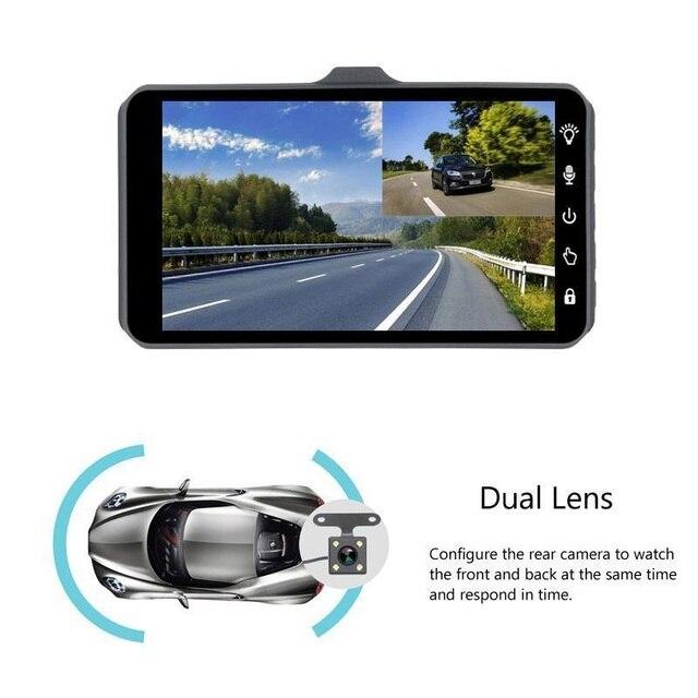 "jltart Dash cam Dual Lens car DVR Full HD 1080P4""Touch Screen IPS With Backup Rear Camera Registrator Night Vision Video Recorde 3"