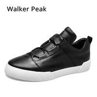 Nuevo Zapatos casuales de cuero genuino a la moda para hombres, Zapatillas de marca para Hombre, zapatos de cuero negro para hombres, Zapatillas para Hombre Walker Peak