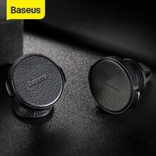 Baseus磁気携帯電話カーエアコンベントマウントホルダーiphoneサムスンpuレザー自動車電話ホルダースタンドブラケット