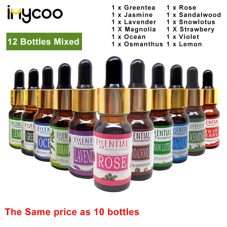 Imycoo Water-soluble Essential Oil 100% Pure Natural For Aroma Diffuser Air Humidifier Aromatherapy Essential Oil Diffuser