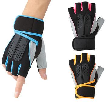 Rękawiczki do podnoszenia ciężarów Loogdeel oddychające antypoślizgowe rękawice regulowana siłownia Sport poręczny sprzęt do ćwiczeń treningowe rękawice treningowe tanie i dobre opinie CN (pochodzenie) Podnoszenie ciężarów rękawice SGJ001 Pink Blue Yellow