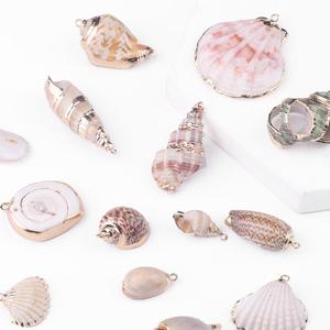 15 Styles 2pcs Natural Shell Pendant Conch Shell Charms Pendant Natural At Random For DIY Jewelry Necklaces Making Accessorie