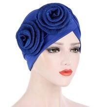 Мусульманские шляпы для Для женщин тюрбан Кепки головка Обёрточная