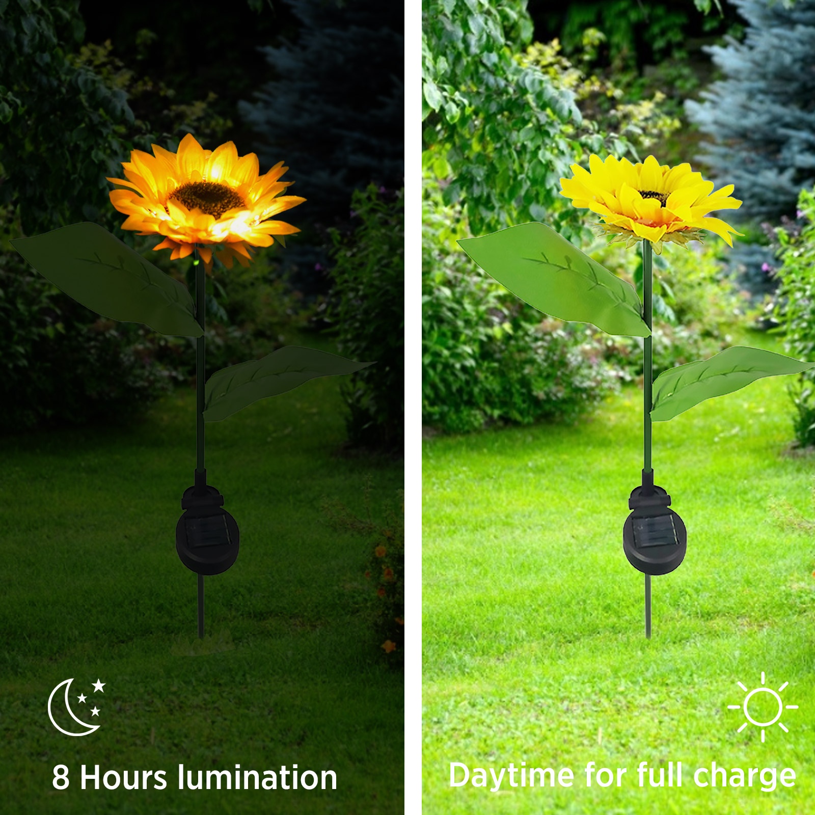 luzes de girassol solares para area externa 04