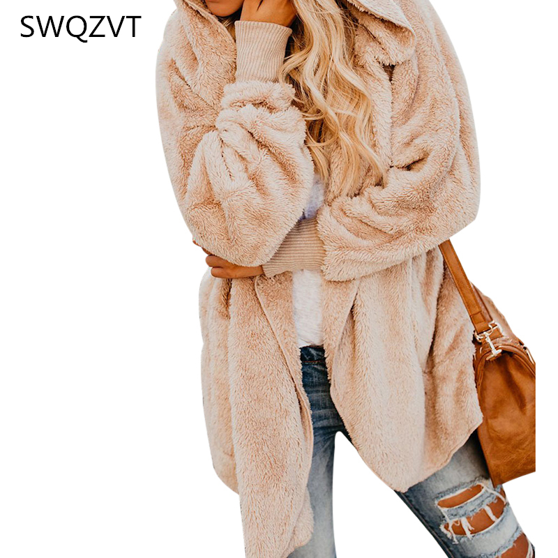 2019 autumn winter   jacket   women hooded with fur ladies coat women outwear New casual   basic     jacket   streetwear casaco feminino