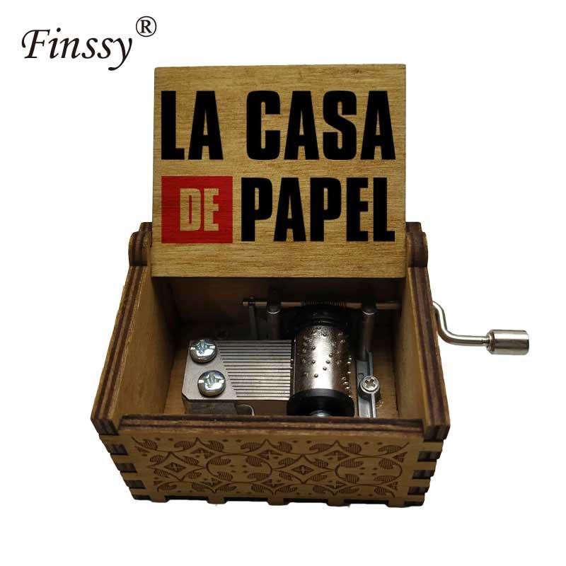 Holiday Gift Decoration Jewelry Movie Paper House La Casa De Papel Dali Theme Song Bella Ciao Movement Music Box Accessories