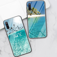 Mar playa caja de amor para Xiaomi Redmi Nota 8 9 7 6 Pro 8T Mi nota 10 9 T 8 Pro SE A3 A2 Lite 6X F1 Poco X3 de vidrio templado Fundas