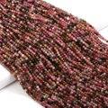 Натуральный Камень Турмалин Бусины 2 3mmSmall микро граненые бусины для изготовления ювелирных изделий DIY браслет ожерелье аксессуары 15''