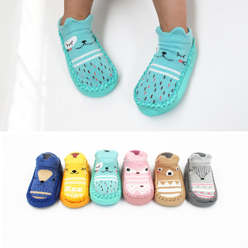 Cute Cartoon Baby Shoes Newborn Girls Boys Anti-Slip Crib Shoe First Walkers Soft Sole Cotton Toddler Shoes Sapato Infantil