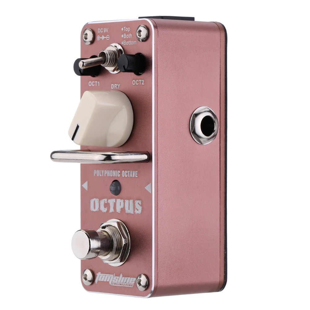 رائحة AOS-3 صحيح الالتفافية Octpus مجسمة اوكتاف الكهربائية تأثير الغيتار دواسة البسيطة واحدة تأثير المعالج الغيتار الاكسسوارات