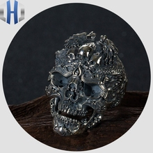 Skull Ring S925 Sterling Silver Ring  Jewelry Ssangyong Original Jewelry International Crafts цены