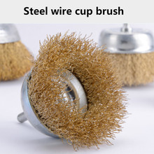 Steel wire drill brush high quality rusty remove cleaning grinding polishing bowl-type wire wheel brush 2020 hot sale