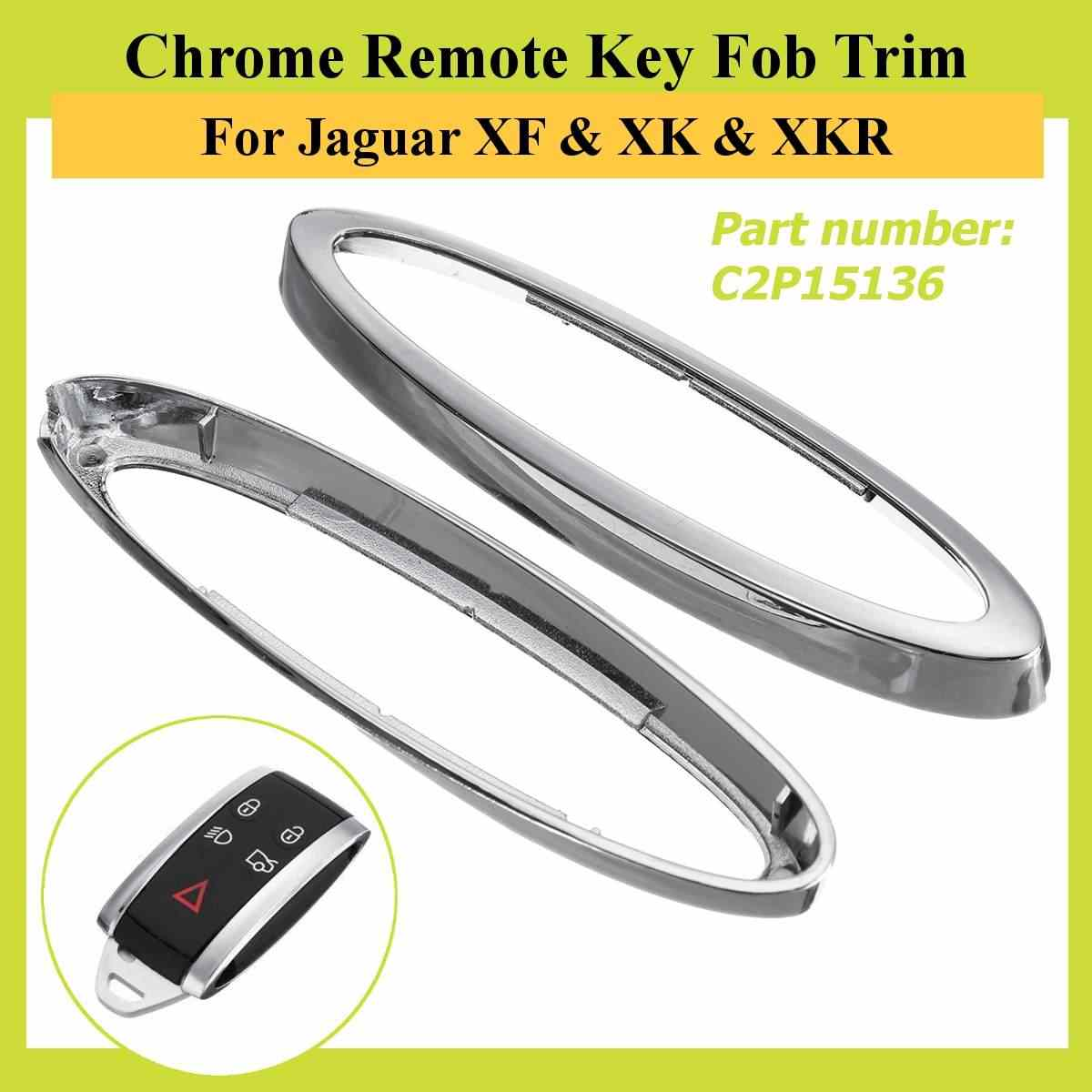 # C2P15136 Chrome Remote Key Fob Trim Kit สำหรับ Jaguar XF & XK & XKR