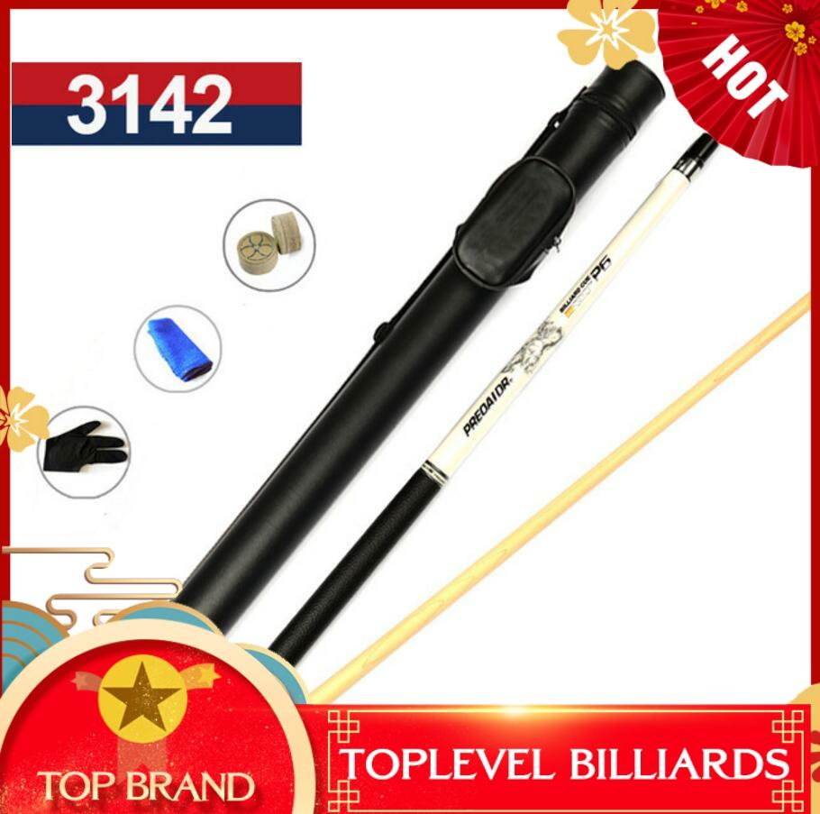 PREOAIDR 3142 P6 Pool Cue With Case Billiard Stick Kit 13mm/11.5mm Tips Black/White Color Pool Cue Case Set 2019 Billiards Cue