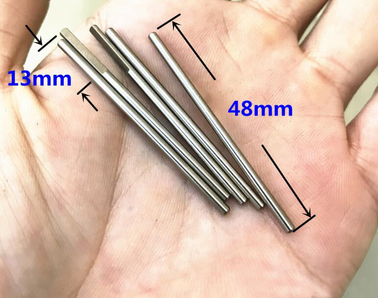 20Pcs 2*48mm D Shape Shaft 2mm Motor Shaft Stainless Steel Flat Axle Spare Parts for DIY Toys Models image