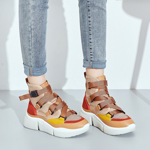 Image 4 - Lucyever femmes mode bottines 2019 automne hiver confortable travail chaussures femme chaussures plates plate forme chaussures baskets hautes