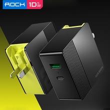 ROCK 30W Dual Cổng USB Sạc Cho EU Mỹ Anh Sạc Điện Thoại Di Động PD3.0 QC4.0 FCP SCP Sạc Nhanh cho iPhone X 8 Huawei P20 P30