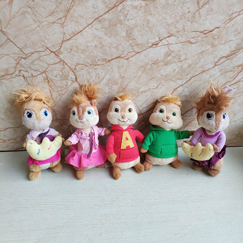 Alvin And The Chipmunks Plush Toy Alvin Simon Theodore Brittany Jeanette Movie Stuffed Animal Doll Kids Toy Holiday Gift