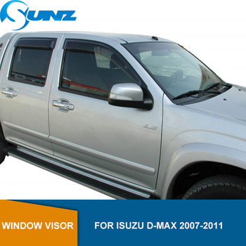 Window Shield Cover For ISUZU D-MAX 2007 2008 2009 2010 2011 Weather shields window visors Sun Shade Awnings Shelter Guards SUNZ