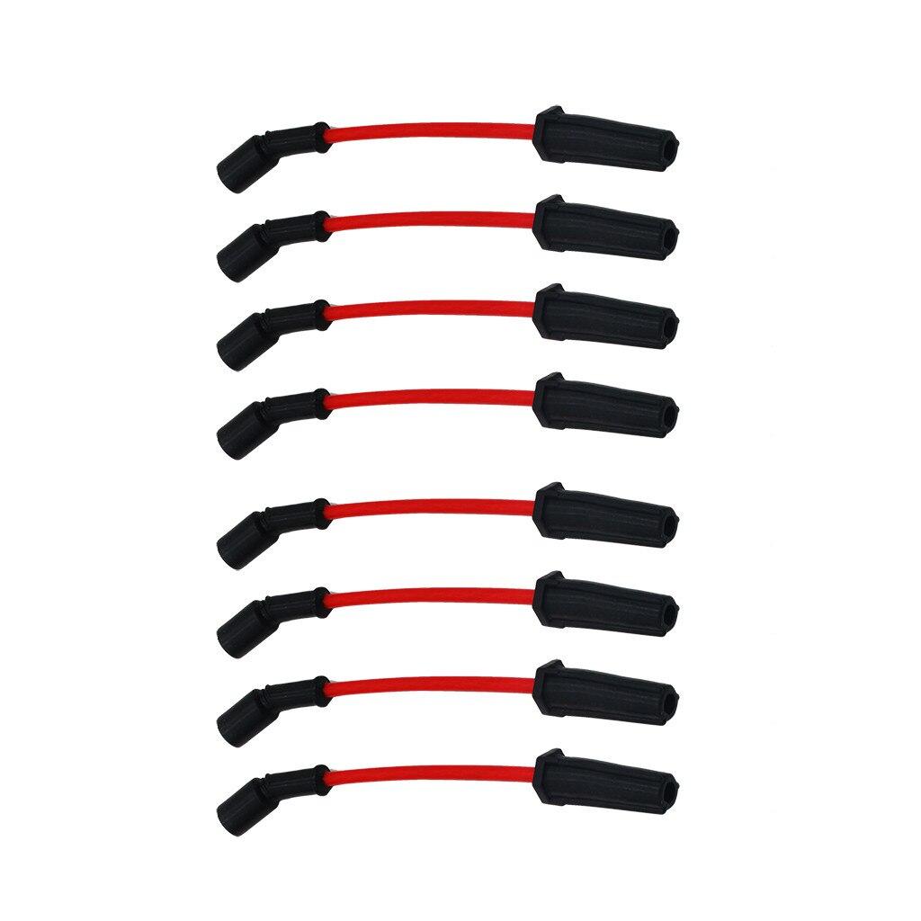 8pcs 10mm High Heat Spark Plug Ignition Wires Set LSx LS1 LS2 LS3 LS6 LS7