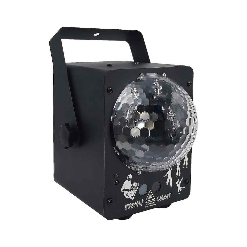 """צליל דיסקו לייזר אור RGB מקרן מסיבת אורות DJ תאורת אפקט למכירה LED עבור בית חתונת קישוט בריטניה/ ארה""""ב/האיחוד האירופי/AU Plug"""