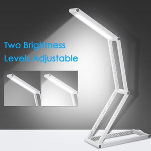 Foldable LED Desk Lamp with USB Direct Charge Port Portable Table lamp Multi-functional for Reading Studying Camping Bedroom