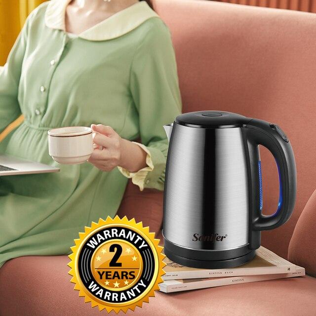 1.8L Electric Kettle Stainless Steel Kitchen Appliances Smart Kettle Whistle Kettle Samovar Tea pot Thermo pot Gift 220V Sonifer 5
