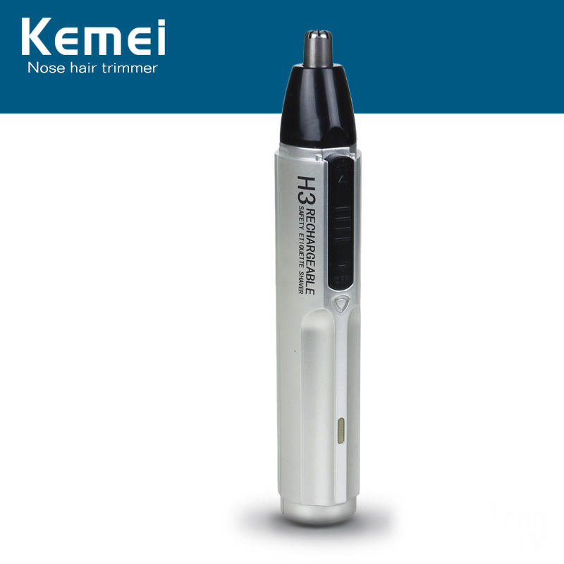 Kemei KM-310A Rechargeable Electric Nose Trimmer For Men Beauty Nose And Ear Trimmer For Nose Hair Removal Men Nose Trimmer