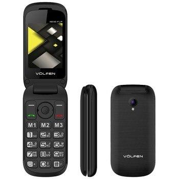 Telefono movil volfen flip negro tipo