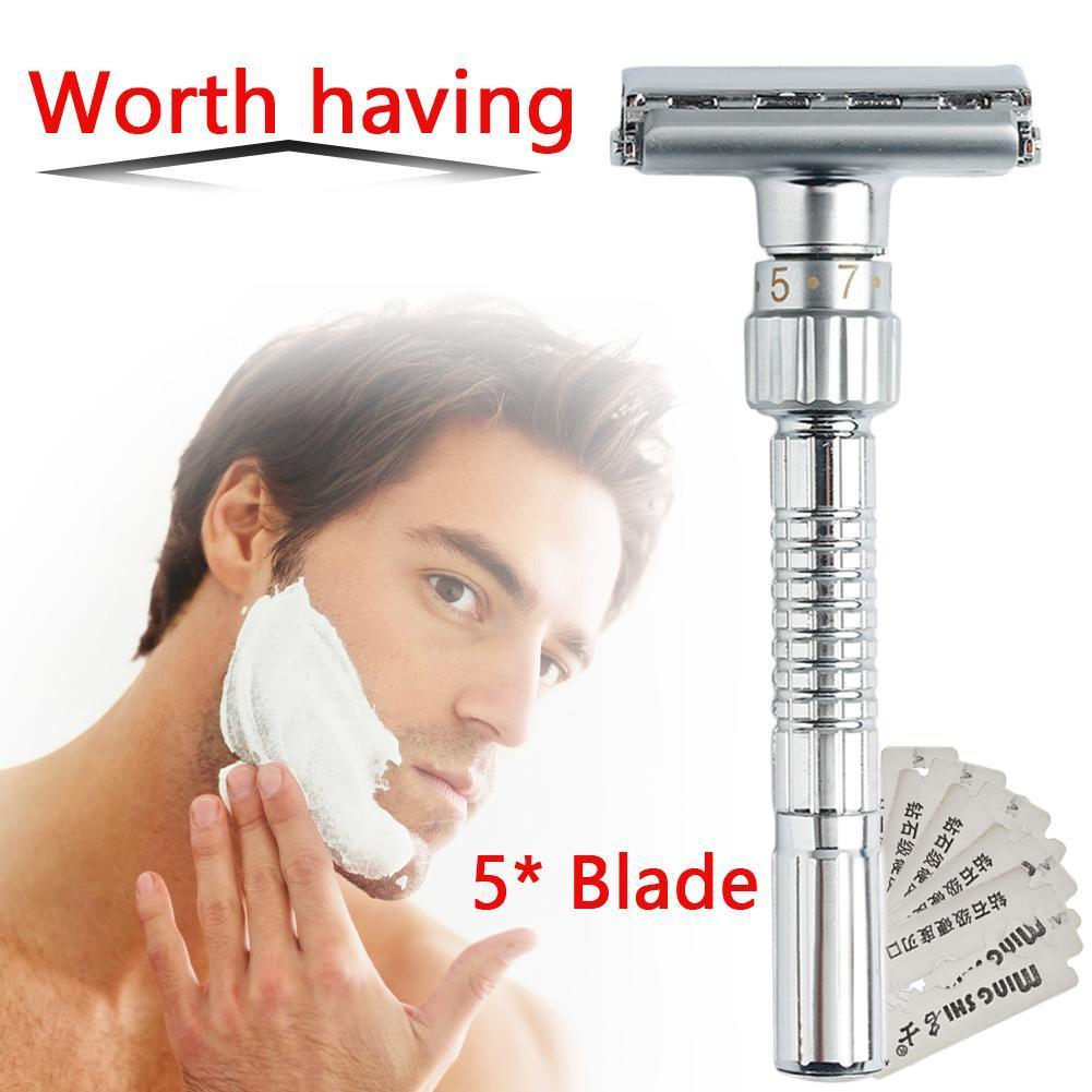 High Quality 2 Sided Blade Quality Shaving Machine Shaving Shaver Manual Beard Hair Safety Remover Blades Razor Face Care B5T5
