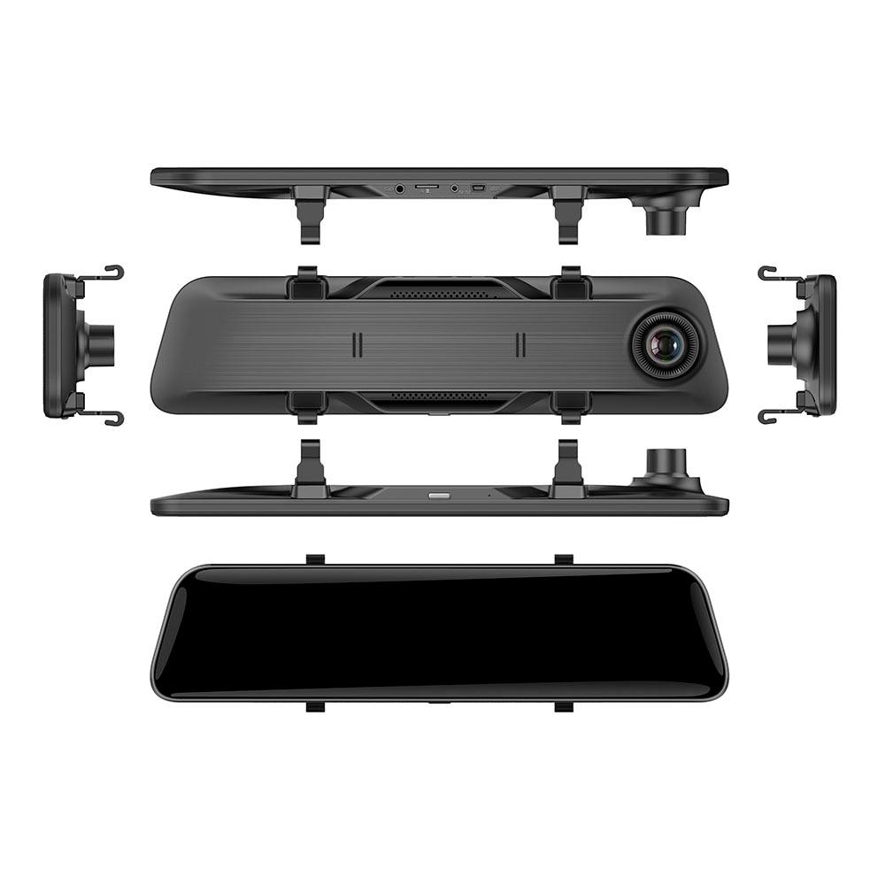 HGDO 12 pouces 2K voiture DVR rétroviseur caméra Dvr 1080P Dash Cam enregistreur vidéo automatique avec 2 caméras de stationnement Dashcam - 5