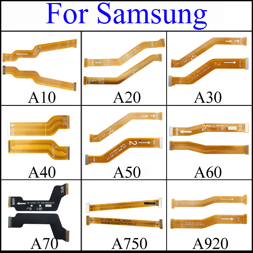 For Samsung Galaxy A10 A20 A30 A305F A50 A40S A40 A60 A60S A705F Motherboard Main Board Connector LCD Display USB Flex Cable