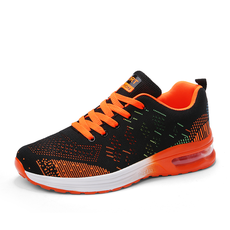 Running Shoes Spring 2020 New Big Size 35-45 Unisex Sport Shoes Brand Outdoor Running Shoes Breathable Air Cushion Fitness Shoes