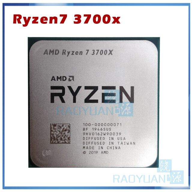AMD Ryzen 7 3700X R7 3700X 3.6 GHz 7NM L3 = 32M 100 000000071 sekiz çekirdekli Sinteen dişli CPU İşlemci soket AM4