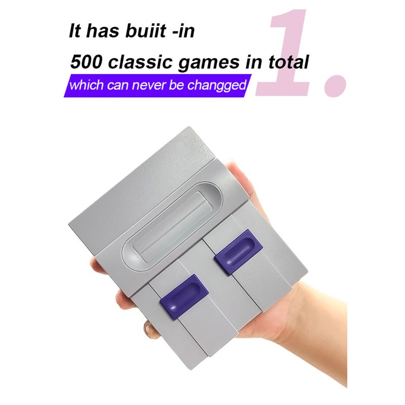 cheapest EU US Plug SUPER MINI NES Retro Classic Video Game Console TV Game Player Built-in 821 Games with Dual Gamepads