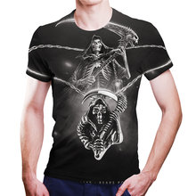 Hot sale 2021 summer death sickle hand pattern 3DTshirt men and women personality loose short sleeve cool style T-shirt XXS-6XL