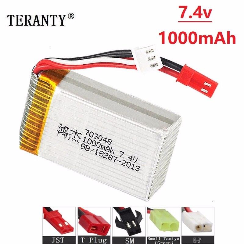 7.4v 1000mah Lipo Battery For MJXRC X600 U829A U829X X600 F46 X601H JXD391 FT007 Toys 2S Lipo Battery 7.4V 25c 703048 Battery