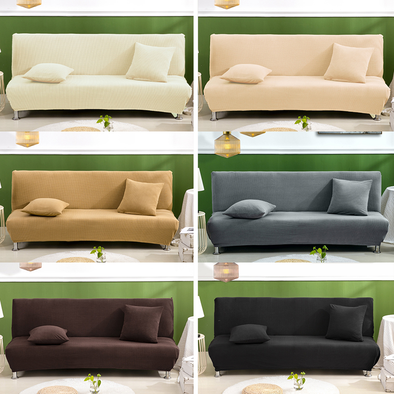 Polar Fleece Fabric Waterproof Armless Sofa Bed Cover Universal Size Slipcovers Stretch Covers Couch Protector Elastic Bench